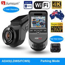 4K Ultra HD 2160P ADAS Dash Cam Dual Lens Car Camera WiFi DVR GPS Night Vision