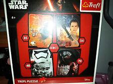 Star Wars - The Force Awakens - 4 Puzzle 35-48-54-70 Pezzi - Trefl - Nuovo