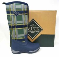 NEW Womens MUCK Arctic Adventure Navy/Green Plaid  W119  ss