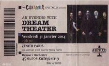 ticket billet used stub place concert DREAM THEATER 2014 PARIS