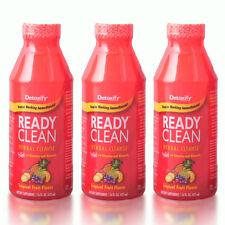3 Detox Ready Clean 16 oz Bottle Detoxify Topical Fruit FREE FAST SHIPPING!(d27)