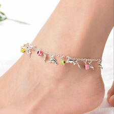 Dolphin Anklet Beach Hippie Belly Dance Silver Colored Fashion Jewellery Ladies