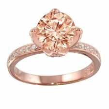 Sterling Silver Rose Gold Plated CZ Stones Ladies Ring