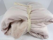 "Pottery Barn Teen Blush Ice Pink Faux Fur Throw Blanket 60"" #5010"