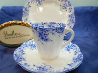 "DAINTY BLUE DAISY   ""DEMI""  CUP and  SAUCER    * BLUE TRIM *   NO PLATES!"