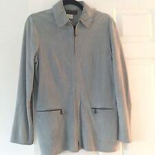 Loro Piana pale blue suede jacket ladies size 42