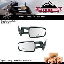 Trail Ridge Towing Mirror Manual Pair for 99-07 Chevy GMC Silverado Sierra Truck