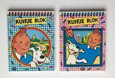 TINTIN BLOC NOTE KUIFJE BLOK / LOT 2 / HERGE / 1986 / NEDERLANDAIS