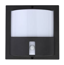 TP24 5340 Metro Nevada 6W G40 IP44 LED PIR outdoor security wall light Black