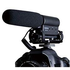 microphone mic haute sensibilité avec stéréo pour DSLR Nikon Canon Sony Fujifilm