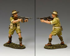 King and Country Aussie officier avec Tommy Gun-EIGHTH ARMY EA098