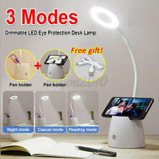 3 Modes Dimmable LED Desk Bedside Reading Lamp Table Touch Control Night