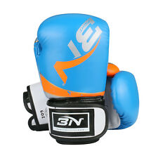 6oz PU Blue Kids Boxing Children MMA Sparring Training Gloves Age 6-13 Years