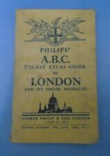 Philips' A.B.C Pocket Atlas Guide To London And Its Outer Districts Vintage Book