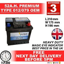 012 Car Battery fits many Rover Seat Skoda Smart Toyota Vauxhall VW Aygo