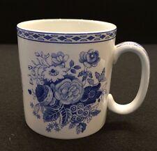 Spode Blue Room Collection BLUE ROSE Porcelain 10 oz Mug Cup Made England