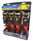 4PC Taurus ratcheting tie-down with extras