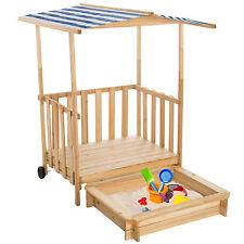 Sabbiera con Tetto Veranda da Gioco per Bambini Terrazza protezione solare blu n