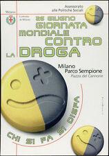 cartolina pubblicitaria PROMOCARD n.3137 GIORNATA MONDIALE CONTRO LA DROGA MILAN