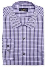 Club Room Men's Regular Fit Dress Shirt, Crushed Grape Check SIZE 14.5 32/33