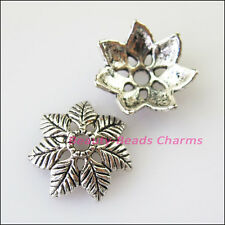 20Pcs Tibetan Silver 7Leaf - Flower End Bead Caps Connectors 14.5mm
