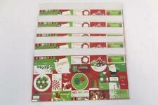 5 Sheets 80 Count Seasonal Essentials Christmas Sticker Tags Lot New In Package