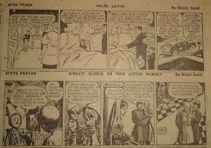 77 Daily Full Sheets The Galveston News 04-06 1948 DICK TRACY, STEVE CANYON, etc