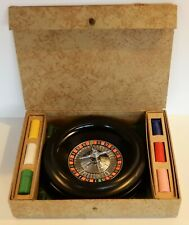 VINTAGE PACIFIC CO TRAVELING GAMBLING ROULETTE SET IN BOX