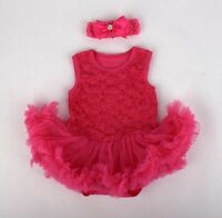 A Suit Rose Red Skirt For 20''-22'' Doll Clothes Reborn Baby Tutu Clothing Dress