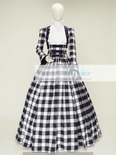 Victorian Dickens Faire Cotton Blend Tartan 3Pc Gown Dress Theater Quality 187