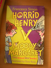 HORRID HENRY V MOODY MARGARET 2 BOOKS WITH CARDBOARD SLEEVE IN GREAT CONDITION