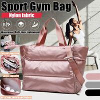 Large Women Nylon Sport Gym Duffle Fitness Travel Shoulder Tote Handbag Bag
