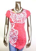 CHICO'S $74 NWT ZENERGY RUNAWAY RED FLORAL TOP TUNIC SIZE 0 ( S )