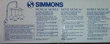 Vintage Simmons Musical Mobile Nursery Baby Crib BEE MINE ♡