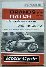 Brands Hatch 11 OTT 1964 Motore Ciclo ROAD RACING PROGRAMMA UFFICIALE