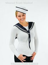 Sailor Girl Kit Scarf & Hat  Instant Ladies Sexy Navy Fancy Dress Outfit DS119