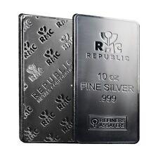 10 oz Republic Metals (RMC) Silver Bar .999 Fine (Sealed)