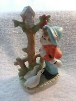 Vintage Porcelain Boy With Ducks Figurine - 6 Inches