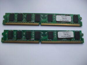 2 x 512 PC4200  DDR2 LOW PROFILE Desktop RAM Memory