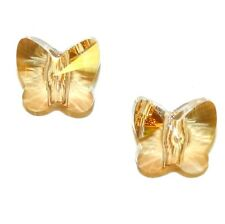 SCU628sp Golden Shadow 13mm Faceted Large Hole Butterfly Swarovski Crystal Beads
