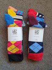 HAPPY SOCKS 6 Pairs UK SIZE 7-11 EU 41-46 NEW Large