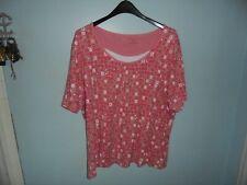 Croft & Barrow womens pink circles, 3xl blouse, blouse, casual dress blouse