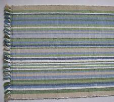 "NEWPORT 13"" x 36"" Cotton Beach House Table Runner Blue, Green, Beige, White"