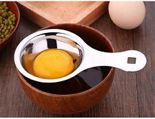 Acero inoxidab Separador de Yema Separador herramienta Tamiz Artefacto de Cocina