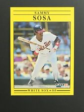1991 Fleer baseball Sammy Sosa Chicago White Sox #136 NM