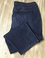 Terra And Sky Women's 24 Pet 3X (46x27) Straight Denim Jeans Stretch EUC H3