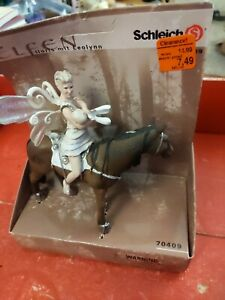 Schleich Bayala Fairy Elf Holding Baby Figure LLORIS LEOLYNN Brown Horse 70409