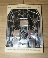 NOS Vintage 1960s Revell car parts Chromed Dragster Frame C1130 Slot car