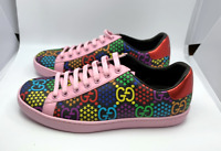 Gucci Women's GG Psychedelic Ace sneaker trainer EU38 UK4 US7 100% AUTHENTIC