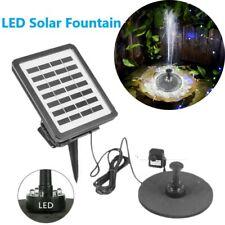 LED Lighting Solar Fountain Floating Pump Water Light Birdbath for Pond Garden